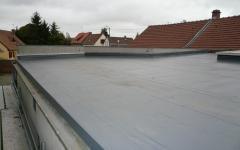 Zinguerie-couverture à faible pente en zinc à joints debouts